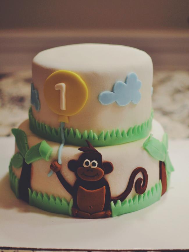 Babys First Birthday Fondant Cake Crumbs And Tea