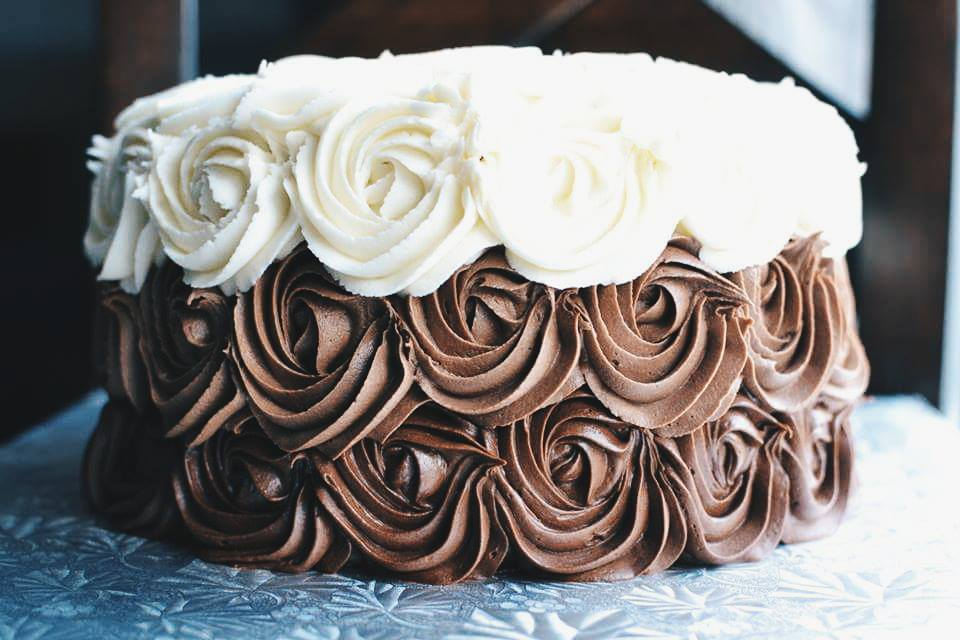 Chocolate Layer Rose Cake Crumbs And Tea