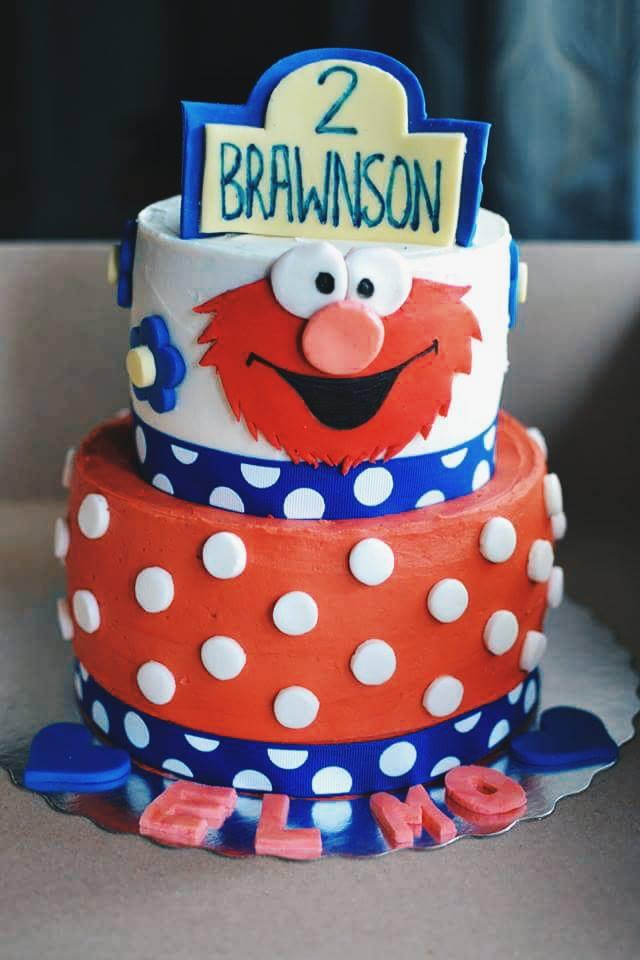 Elmo Birthday Cake Crumbs and Tea