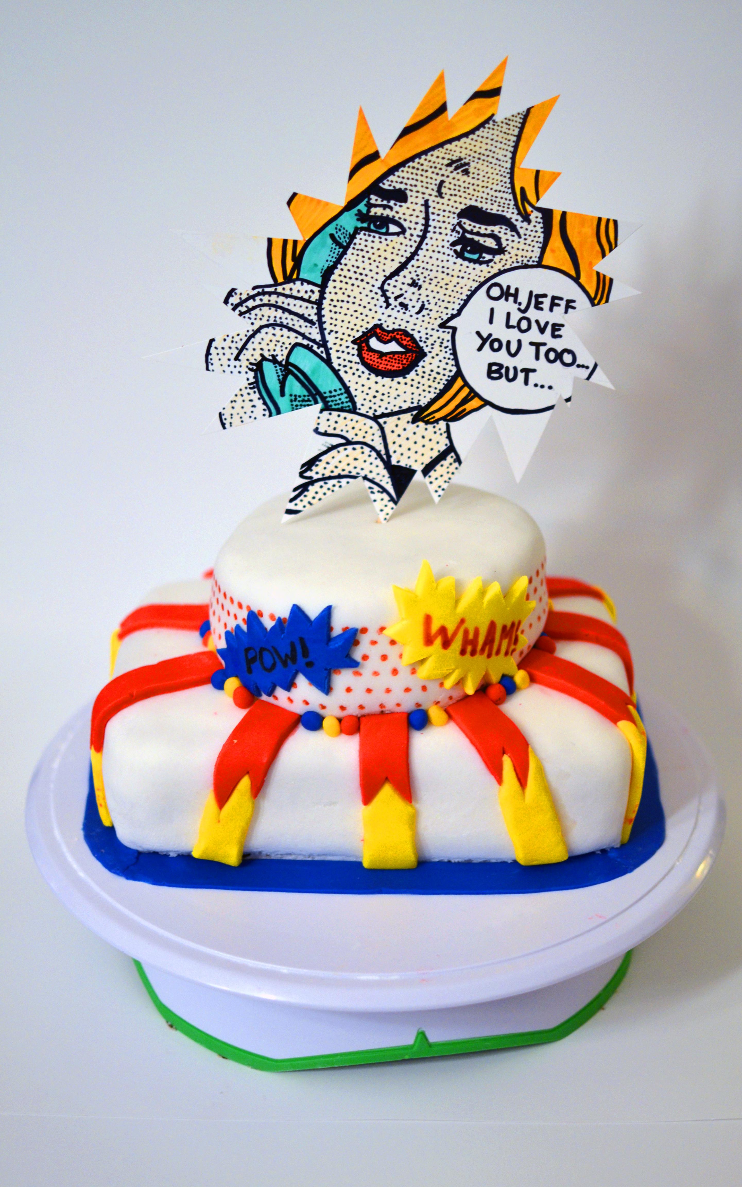 Roy Lichtenstein Fondant Cake: POP ART!