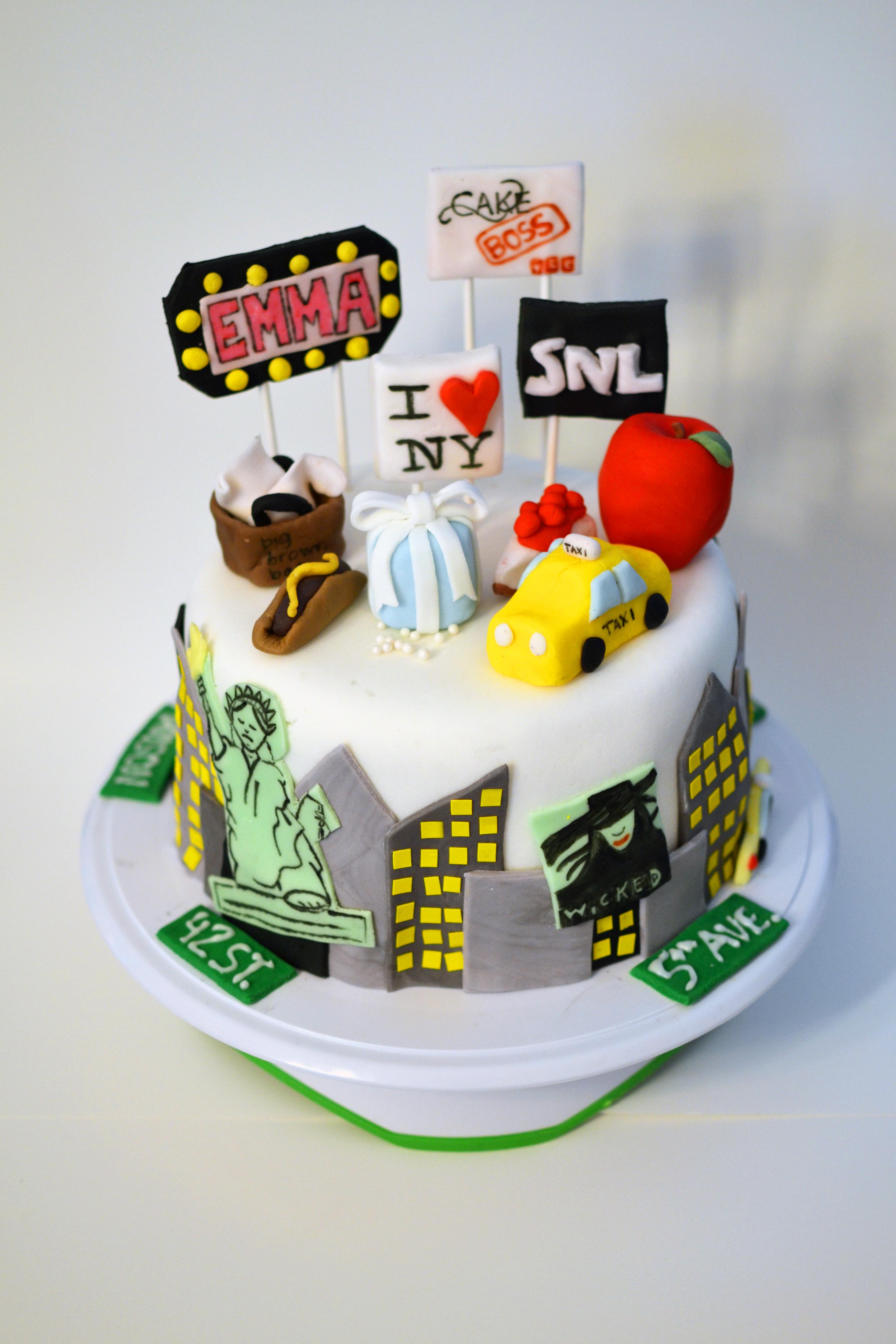 New York City Fondant Cake!